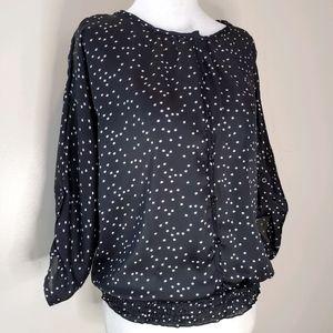EUC semi sheer star blouse